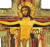 Immagine di 'Crocifisso di San Damiano su legno da parete - 43 x 32 cm'