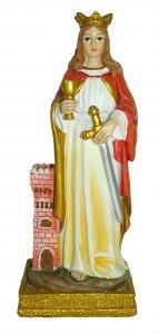Copertina di 'Statua di Santa Barbara da 12 cm in confezione regalo con segnalibro'
