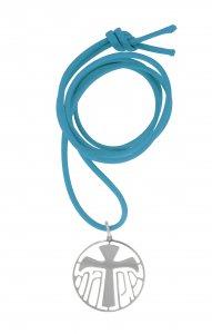 Copertina di 'Ciondolo in argento 925 con simbolo Tau'