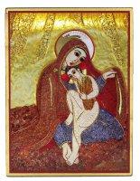Tavola Madonna delle Spighe Padre Rupnik stampa 5,5x7,5 cm - (Monza)