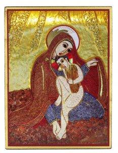 Copertina di 'Quadro Madonna delle Spighe Padre Rupnik stampa 5,5x7,5 cm - (Monza)'