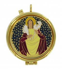 Copertina di 'Teca eucaristica ostie modello Buon Pastore - Ø 5 cm'