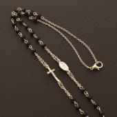 Immagine di 'Collana rosario con grani sfaccettati neri'