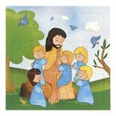 """Mini puzzle per bambini """"Gesù con i bambini"""" - 12 pezzi"""