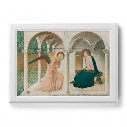 """Copertina di 'Quadro """"Annunciazione"""" con cornice decorata a sbalzo - dimensioni 58x78 cm'"""