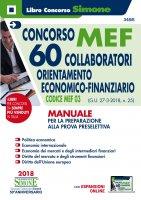 Concorso MEF - 60 Collaboratori Economico Finanziario - Manuale - Redazioni Edizioni Simone