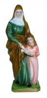 Statua Sant'Anna in gesso madreperlato cm 30 (dipinta a mano)