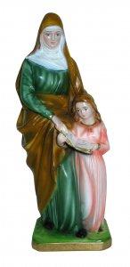 Copertina di 'Statua Santa Anna in gesso madreperlato dipinta a mano - 30 cm'