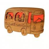 Presepe in legno scuolabus di  su LibreriadelSanto.it