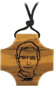 Copertina di 'Croce Don Bosco in legno di ulivo con incisione'