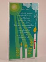 """Quadretto colorato con preghiera """"Padre Nostro"""" - dimensioni 15x8,5 cm"""