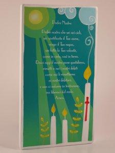 """Copertina di 'Quadretto colorato con preghiera """"Padre Nostro"""" - dimensioni 15x8,5 cm'"""