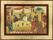 Icona Nozze di Cana Greca in legno - 24 x 18 cm