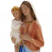Immagine di 'Statua 'Madonna con Bambino' in gesso madreperlato dipinta a mano - cm 25'