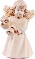 Statuina dell'angioletto con campanelline, linea da 10 cm, in legno naturale, collezione Angeli Sissi - Demetz Deur
