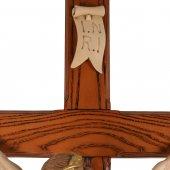 Immagine di 'Crocifisso di legno con Cristo in resina colorata - altezza 135 cm'