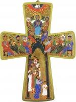 Croce della Pentecoste stampa su legno mdf - 10,5 x 14 cm