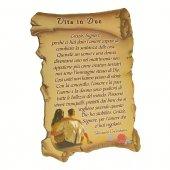 """Quadretto a forma di pergamena con piedino da appoggio """"Vita in due"""" (10 x 7) - Giovanni Crisostomo"""