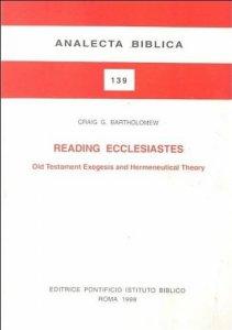 Copertina di 'Reading Ecclesiastes. Old Testament, exegesis and hermeneutical theory'