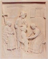 Il piccolo soldato - Demetz - Deur - Statua in legno dipinta a mano. Altezza pari a 30 cm.