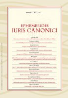 Ephemerides Iuris Canonici. Anno 61 (2021) n. 1