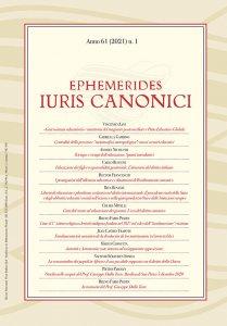 Copertina di 'Ephemerides Iuris Canonici. Anno 61 (2021) n. 1'