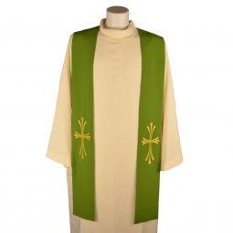 Copertina di 'Stola verde con croce dorata tripartita e stilizzata'