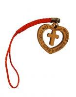 """Ciondolo per cellulare """"Con Cristo il cuore è sempre giovane"""""""