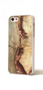 """Copertina di 'Cover Iphone 5 """"Michelangelo, Creazione di Adamo""""'"""