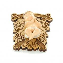 Copertina di 'Gesù Bambino su greppia di legno - altezza 7 cm'