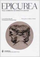 Epicurea, nell'edizione di Hermann Usener. Testo greco e latino a fronte