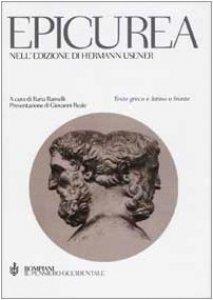 Copertina di 'Epicurea, nell'edizione di Hermann Usener. Testo greco e latino a fronte'
