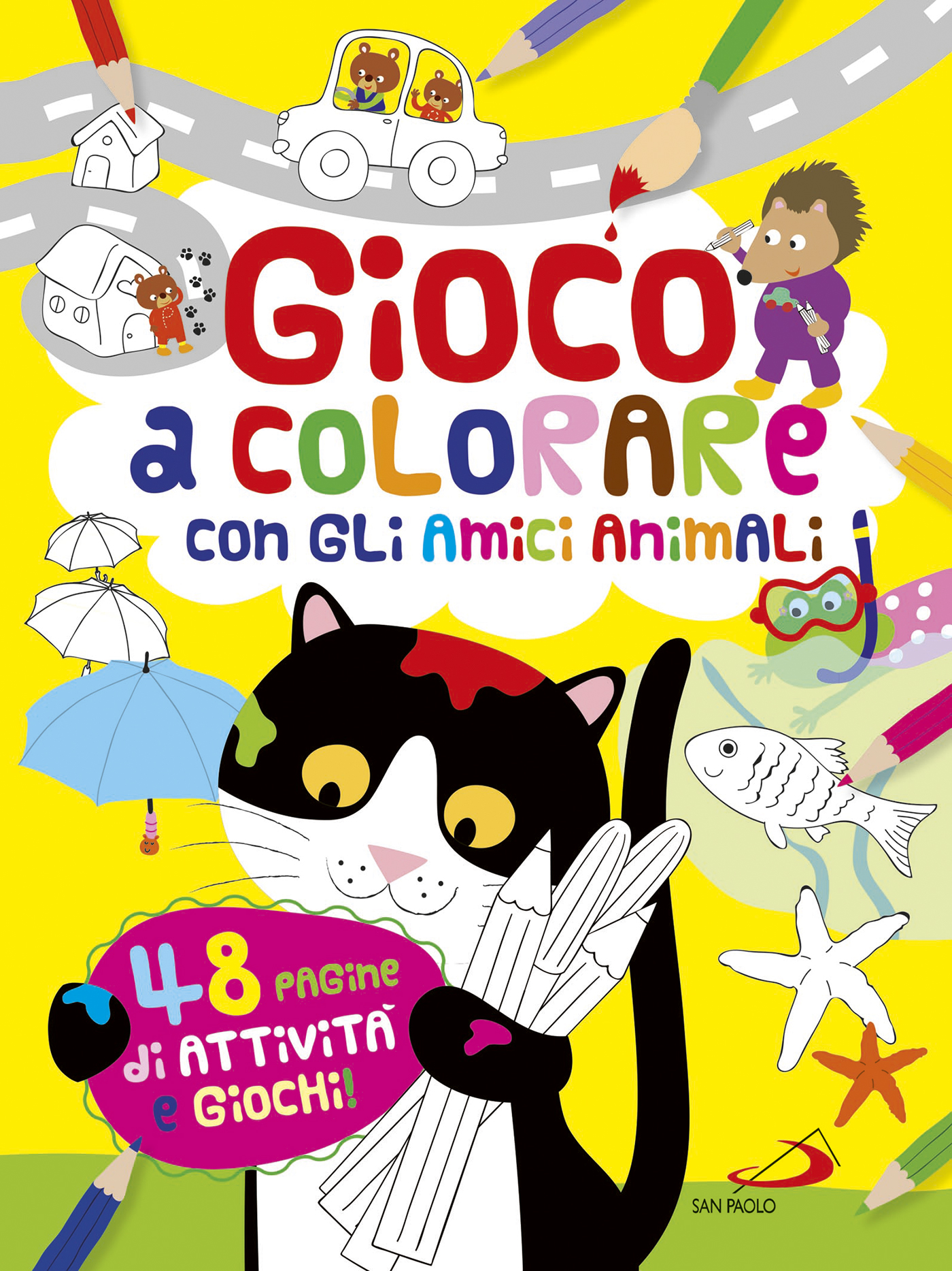 Gioco Per Colorare.Gioco A Colorare Con Tanti Animali Libro San Paolo Edizioni