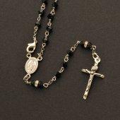 Immagine di 'Rosario collana in argento 925 con grani in Swarovski (astuccio incluso)'