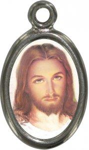 Copertina di 'Medaglia Gesù in metallo nichelato e resina - 2,5 cm'