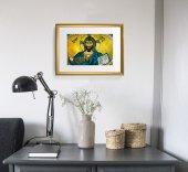 """Immagine di 'Quadro """"Cristo Pantocratore - Duomo di Cefalù"""" con cornice dorata - dimensioni 44x34 cm'"""