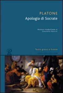Copertina di 'L' apologia di Socrate. Testo greco a fronte'