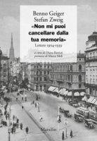 «Non mi puoi cancellare dalla tua memoria». Lettere 1904-1939 - Geiger Benno, Zweig Stefan