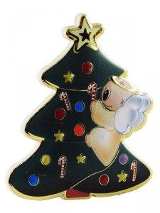 Copertina di 'Calamita a forma di alberello di Natale - dimensioni 5,3x6 cm'