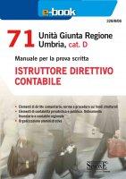 71 Unit� Giunta Regionale Umbria, cat. D - Istruttore direttivo contabile - Redazioni Edizioni Simone