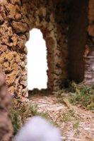 Immagine di 'Capanna Vuota In Legno Con Porta In Gesso ? Bertoni presepe linea Natale'