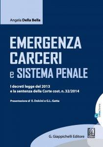 Copertina di 'Emergenza carceri e sistema penale'