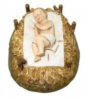 Gesù Bambino con culla - cm 16