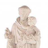 """Immagine di 'Statua sacra in resina bianca """"Sant'Antonio di Padova"""" - altezza 80 cm'"""