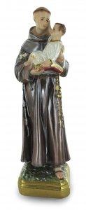 Copertina di 'Statua Sant Antonio in gesso madreperlato dipinta a mano - 20 cm'