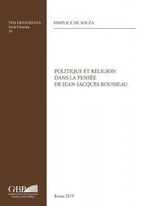 Copertina di 'Politique et religion dans la pensée de Jean-Jacques Rousseau'