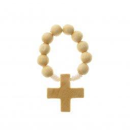 Copertina di 'Decina rosario in legno color acero - grani tondi 7 mm'