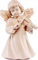 Statuina dell'angioletto con violino, linea da 10 cm, in legno naturale, collezione Angeli Sissi - Demetz Deur