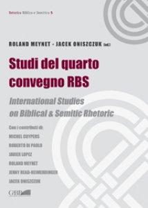 Copertina di 'Studi del quarto convegno RBS. International Studies on biblical and semitic rhetoric'