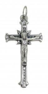 Copertina di 'Croce con Cristo riportato in metallo ossidato - 3,5 cm'
